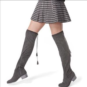 Steve Madden grey thigh high boots